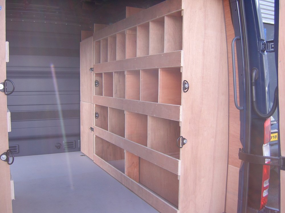 Wooden Shelving Systems Total Van Solutions Northern Ireland